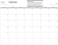 Kalendar satu bulan sebarang tahun