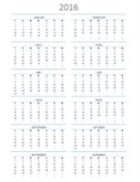 Kalendar sebarang tahun ( Isn-Ahd )