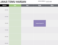 Kalendar janji temu harian
