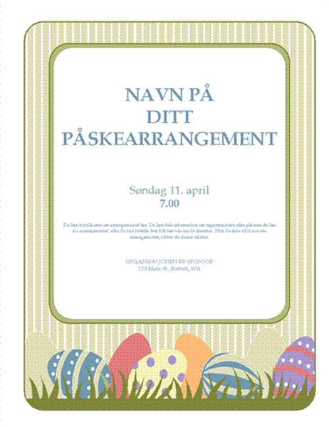 Flygeblad for påskearrangement (med egg)