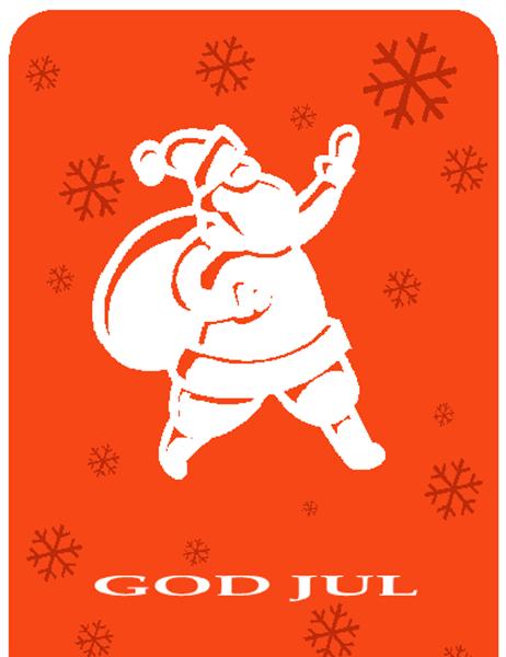 Julekort (med nisse)