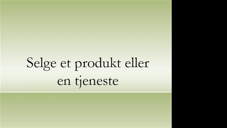 Presentasjon av produkt eller tjeneste