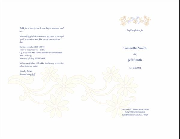 Bryllupsprogram