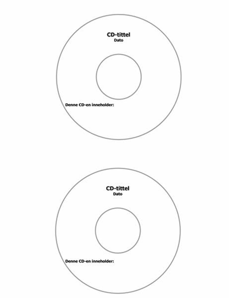 Etikett – CD-forside (for Avery 5824)
