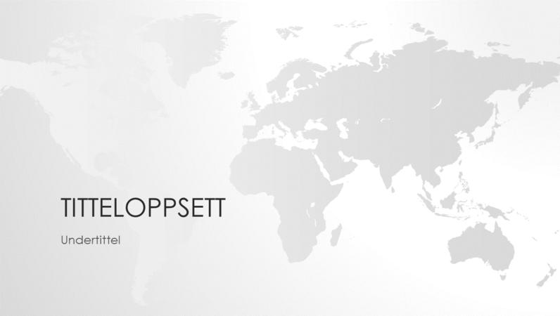 Serie av verdenskart, presentasjon av verden (bredformat)