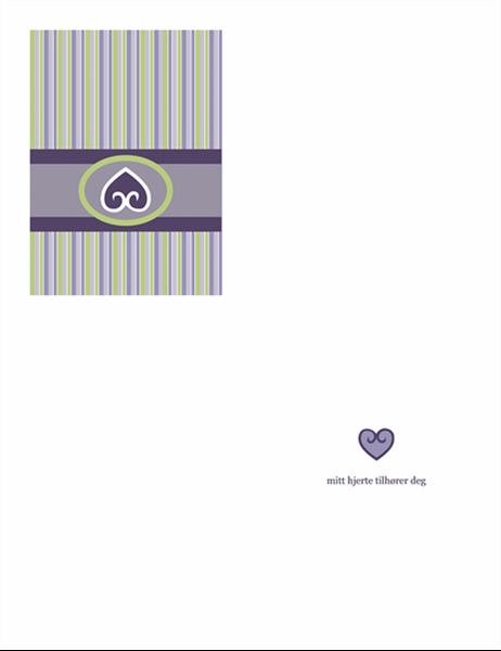 Kjærlighetskort (purpurdesign)