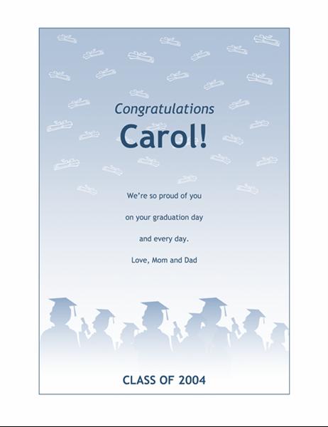 Gratulasjonskort for avgangsstudenter