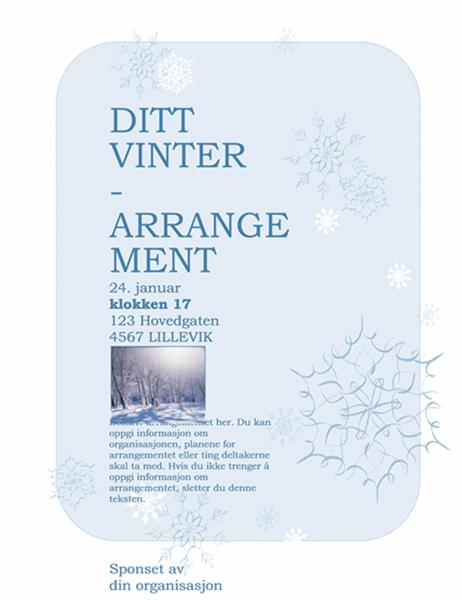 Flygeblad for vinterarrangement