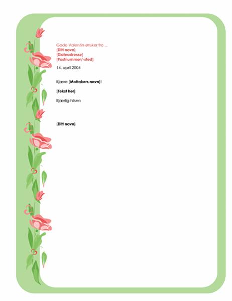 Brevbapir for valentinsbrev