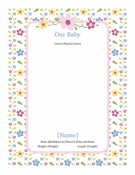 Babyfotoalbum (for jente)