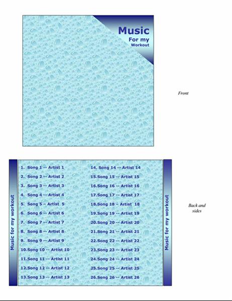 CD-omslag (utformingen Trening)