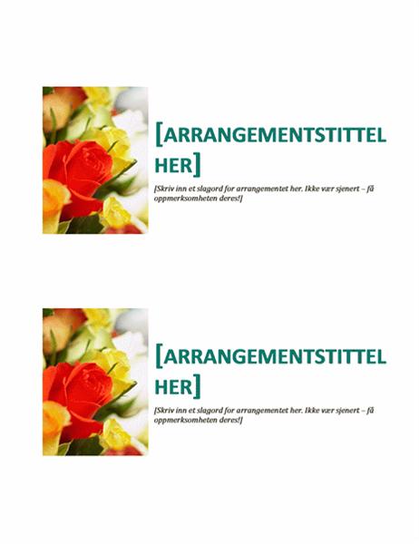 Postkort for arrangement