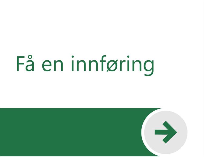 Velkommen til Excel