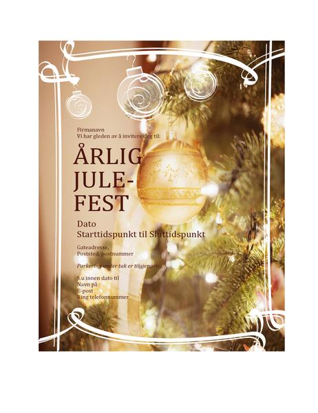 Invitasjon til julefest (for bedriftsarrangement)