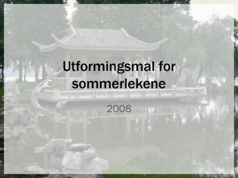 Utformingsmal for sommerlekene 2008 i Beijing
