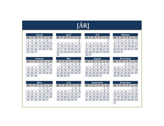 Kalender (alle år)