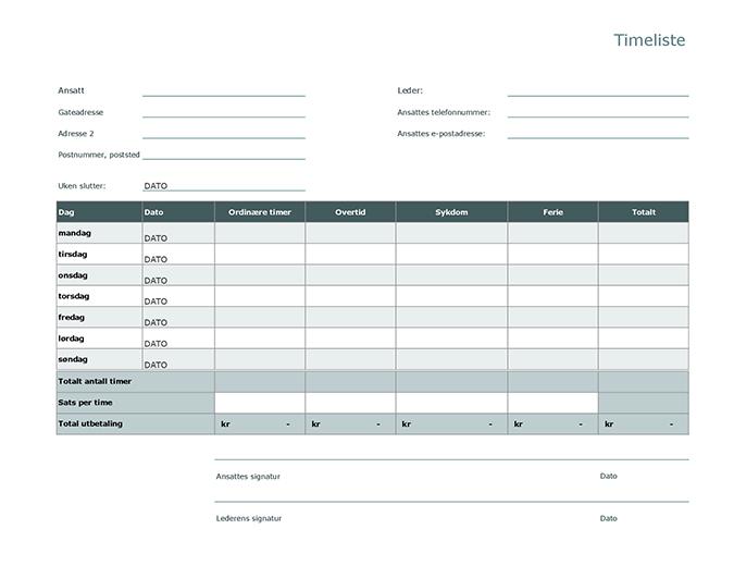 Timeliste