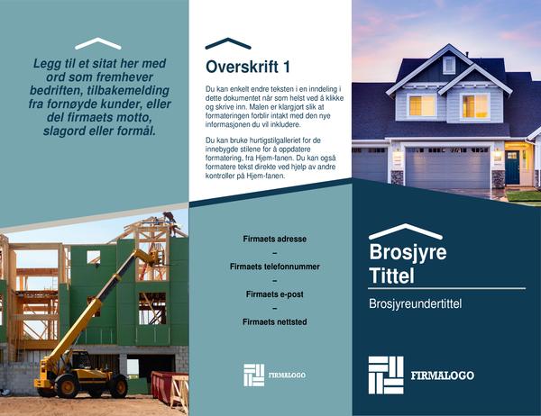 Brosjyre for byggeverktøy
