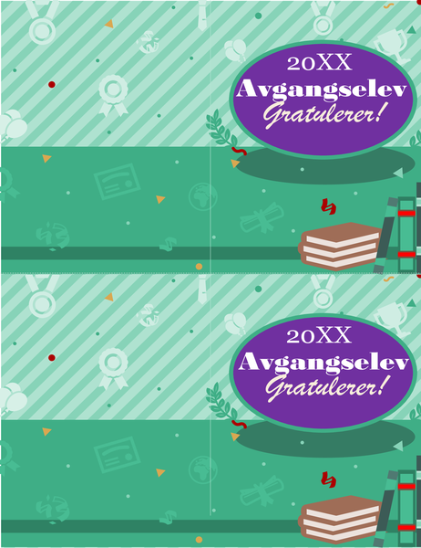 Eksamenskort (to per side)