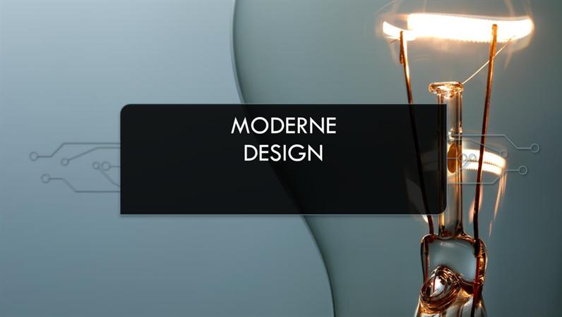 Moderne kretsutforming med lyspære