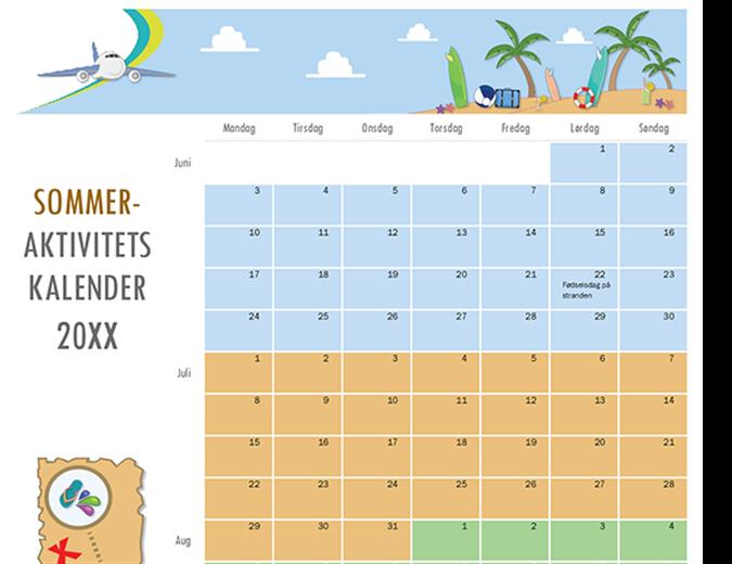 Sommeraktivitetskalender