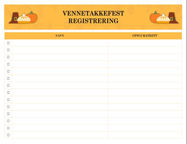 Vennetakkefest registrering