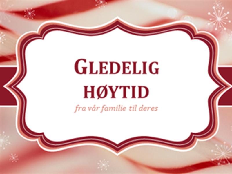 Julekort med sukkertøystang virvler (2 per side)