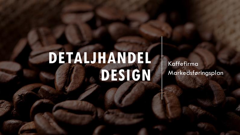 Integrert detaljhandelutforming med kaffebønner
