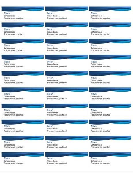 Blå kurveetiketter (30 per side)