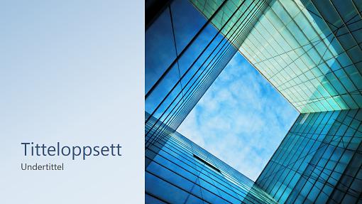 Glasskubepresentasjon for bedriftsmarkedsføring (bredformat)