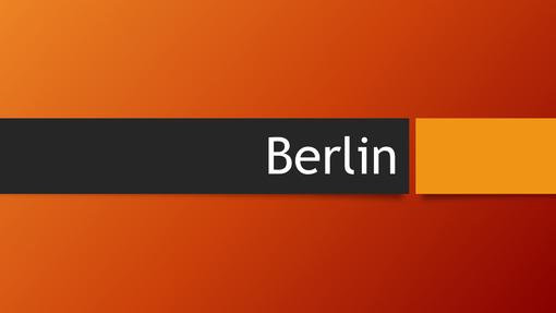 Berlin – oransje