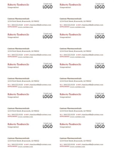 Visittkort med logo (10 per side)