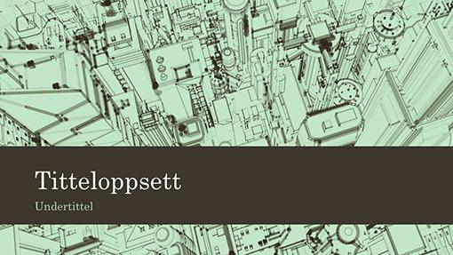 Presentasjonsbakgrunn med skisse av by med bedriftskontor (bredformat)