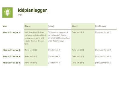 Idéplanlegger