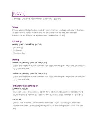 CV (fiolett)