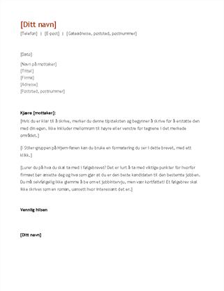 CV og følgebrev (kronologisk)