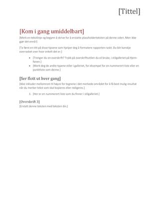 Teamrapport