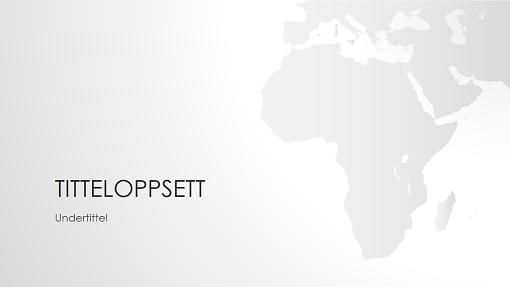 Presentasjon med verdenskart – Afrika (bredformat)