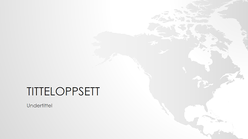 Presentasjon med verdenskart – Nord-Amerika (bredformat)