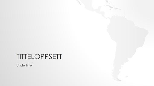 Presentasjon med verdenskart – Sør-Amerika (bredformat)
