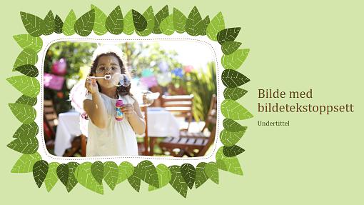 Familiefotoalbum (naturutforming med grønne blader)