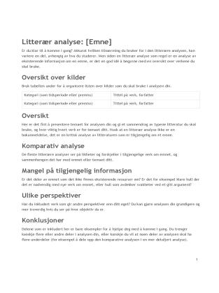 Litterær analyse