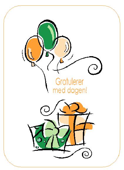 Bursdagskort (med ballonger)