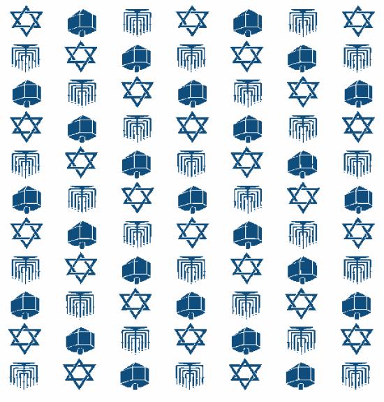 Hanukkah-kort fra firma
