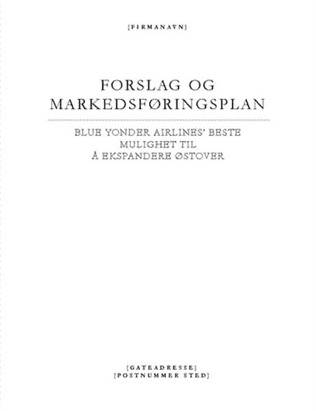 Forretningsrapport (elegant tema)