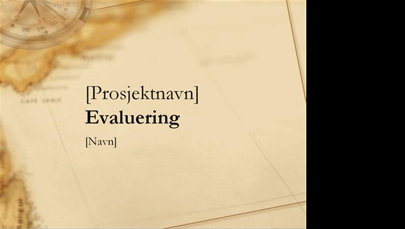 Presentasjon av evaluering av prosjekt