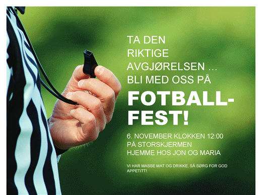 Flygeblad for fotballfest