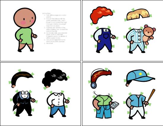 Papirdukker (gutt, sett 2)