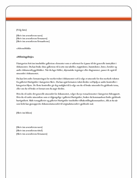 Utskriftsfletting, brev (firma)