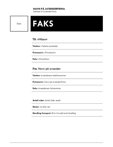 Utskriftsfletting til faks (mediantema)
